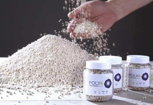 Sirius Minerals polyhalite fertiliser product, which comprisespotassium, calcium, sulphur and magnesium and is essentially a form of potash ash
