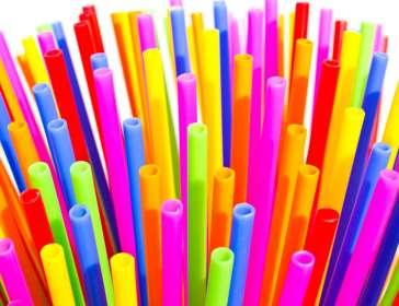 Colourful plastic tubes