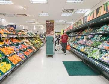 grocery aisle in tesco