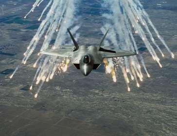 Plane firing missiles