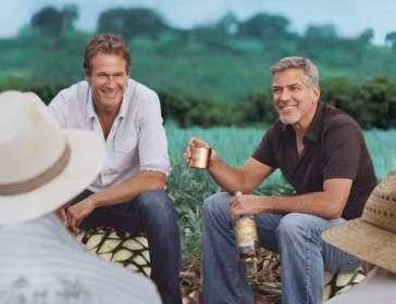 George Clooney celebrating Casamigos sale to Diageo