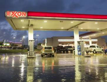 Exxon petrol station