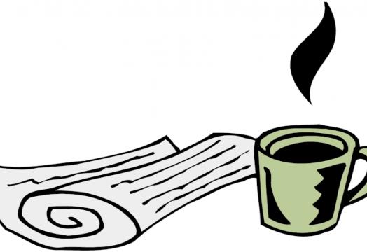 Coffee and a newspaper