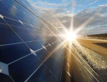 solar panel and sunlight - renewable energy