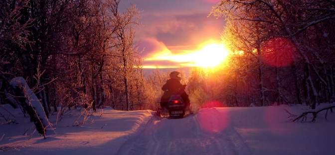 daybreak over northern sweden