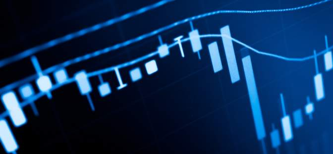 Stock chart graphic