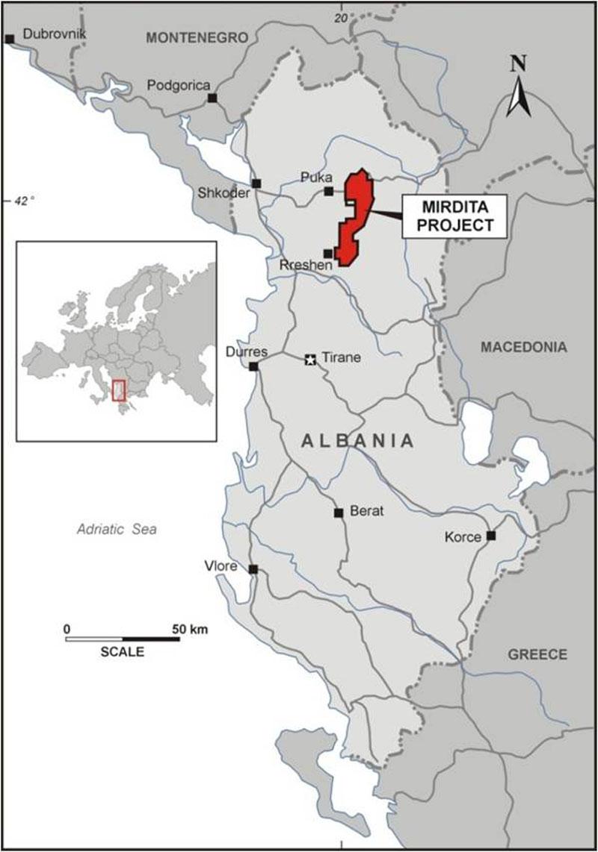 mirdita map